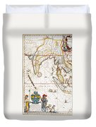 South Asia Map, 1662 Duvet Cover