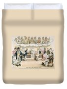 Foolish Forefathers, 1894 Duvet Cover