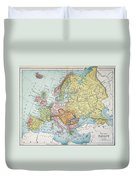 Map: Europe, 1885 Duvet Cover