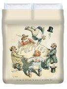 U.s. Cartoon: Businessman Duvet Cover