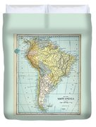 South America: Map, C1890 Duvet Cover