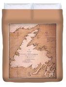 Cook: Newfoundland, 1763 Duvet Cover