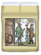 Wine Merchant, 1582 Duvet Cover