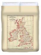 Map: British Isles, C1890 Duvet Cover