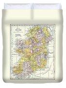 Map: Ireland, C1890 Duvet Cover
