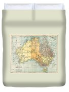 Map: Australia, C1890 Duvet Cover