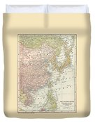 Map: East Asia, 1907 Duvet Cover