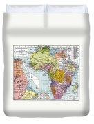 Partitioned Africa, 1914 Duvet Cover