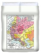 Map: Expansion Of Russia Duvet Cover