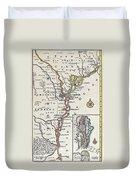 Map: North America, C1700 Duvet Cover