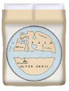 World Map, 1st Century Duvet Cover