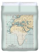 Map: Phoenician Empire Duvet Cover