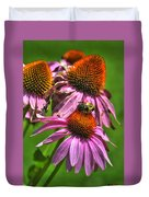 01 Bee And Echinacea Duvet Cover