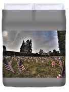01 Flags For Fallen Soldiers Of Sep 11 Duvet Cover