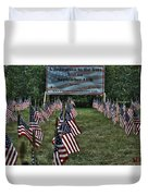 010 Flags For Fallen Soldiers Of Sep 11 Duvet Cover