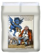 Cartoon: John Bull, C1814 Duvet Cover