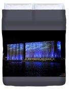 013 Grain Elevators Light Show 2015 Duvet Cover