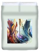 01321 Fire And Waves Duvet Cover