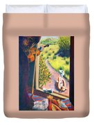 01349 The Cat And The Fiddle Duvet Cover
