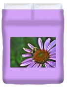 02 Bee And Echinacea Duvet Cover