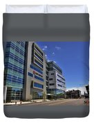 02 Conventus Medical Building On Main Street Duvet Cover