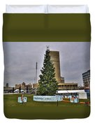 02 Happy Holidays From First Niagara Duvet Cover