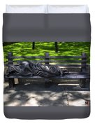 02 Homeless Jesus By Timothy P Schmalz Duvet Cover