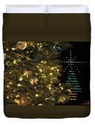 02 Xmas Trees At Canalside And Seneca One Tower Dec2015 Duvet Cover
