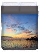 0201 Sunset Wisps On Sound Duvet Cover