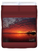 0205 Awesome Sunset Colors On Santa Rosa Sound Duvet Cover