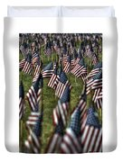 03 Flags For Fallen Soldiers Of Sep 11 Duvet Cover