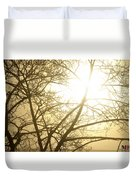 03 Foggy Sunday Sunrise Duvet Cover