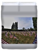 04 Flags For Fallen Soldiers Of Sep 11 Duvet Cover