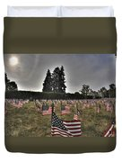 05 Flags For Fallen Soldiers Of Sep 11 Duvet Cover
