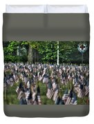 06 Flags For Fallen Soldiers Of Sep 11 Duvet Cover