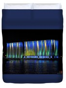 06 Grain Elevators Light Show 2015 Duvet Cover