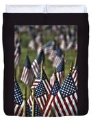 07 Flags For Fallen Soldiers Of Sep 11 Duvet Cover