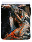 073 Weeping Lady F.w. Blanchard Grave Monument- Hollywood Forever Cemetery Duvet Cover