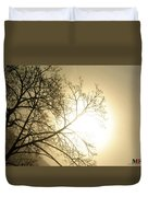 08 Foggy Sunday Sunrise Duvet Cover