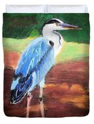 08282016 Female Blue Heron Duvet Cover