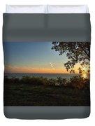 0874- Lake Michigan Sunset Duvet Cover