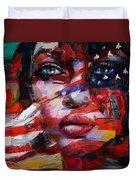 089 Flag And Eyes Duvet Cover