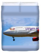 A Virgin Atlantic Boeing 747 Duvet Cover