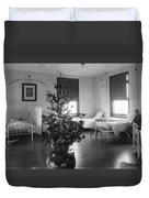 Christmas Tree In Hospital Ward 1923 Black White Duvet Cover