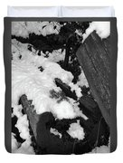 Snowy Wood  Duvet Cover