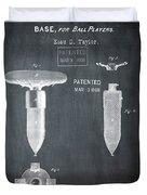 1868 Base For Baseball Players Patent In Black Duvet Cover