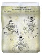 1893 Pocket Watch Patent Duvet Cover