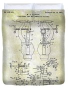 1902 Watchmakers Lathes Patent Duvet Cover