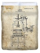 1903 Wine Press Patent Duvet Cover