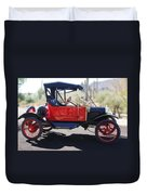 1911 Ford Model T Torpedo Duvet Cover